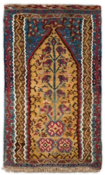 Un kilim de l'Ouest de l'Anatolie Décor de...