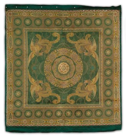 Un Tissage en soie Décor orné d'un motif...