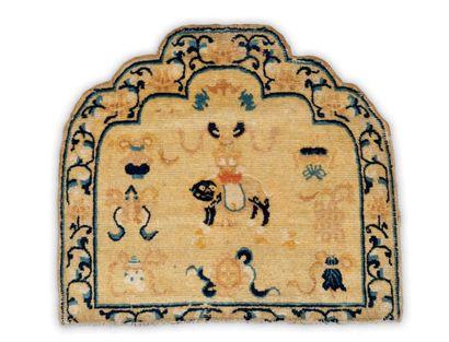 Un tapis de trone chinois de la période Chien...