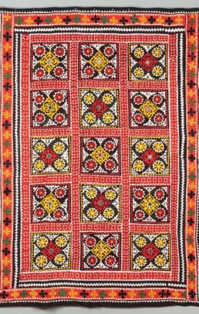 Un patchwork, Travail porbablement de l'Inde....