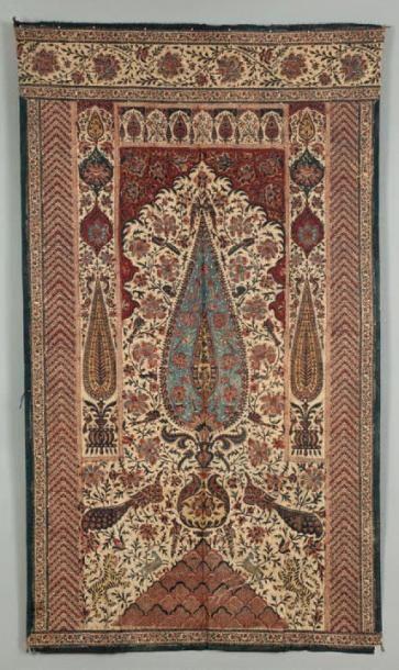 Une impression sur coton, Textile dit Kalamkar(i)...