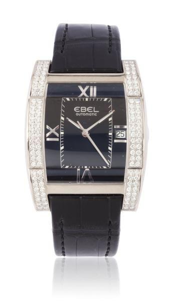 EBEL TARAWA n°3120J49-10 vers 2010 Montre bracelet en or blanc. Boîtier rectangle....