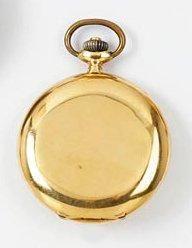 LIP CHRONOMETRE n° 678 vers 1900 Montre de poche savonnette en or. Boîtier rond....