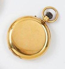 DAVID KEYS à LONDRES Montre de poche savonnette en or. Boîtier rond. Cadran émail...