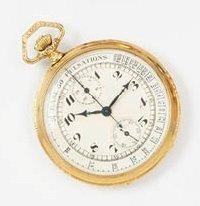ANONYME PULSATION n° 150041 vers 1930 Chronographe de poche en or. Boîtier rond....