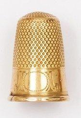 Dé à coudre en or jaune. P. 5,8g