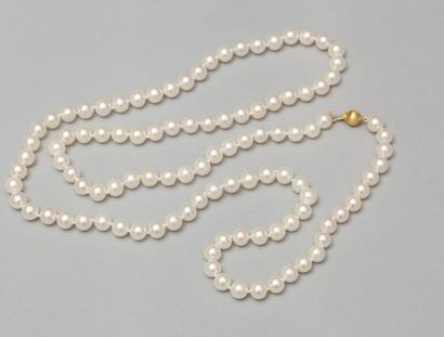 Sautoir de perles de culture japonaises akoia....