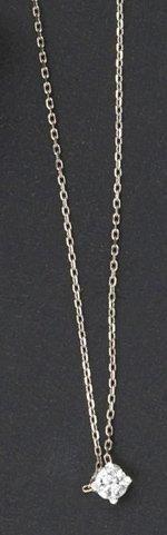 Chaîne et pendentif en or gris orné d'un...