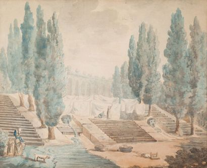 École Française, fin XVIIIème siècle, dans le goût de Hubert ROBERT