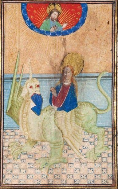 Sainte dévorée par un monstre Miniature sur...