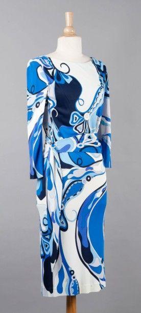 Emilio PUCCI Robe en jersey polyester imprimé de motifs psychédéliques dans les coloris...
