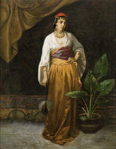 Joseph ALBERT (1886-1981) L'Orientale aux bijoux Huile sur toile, signée en bas à...