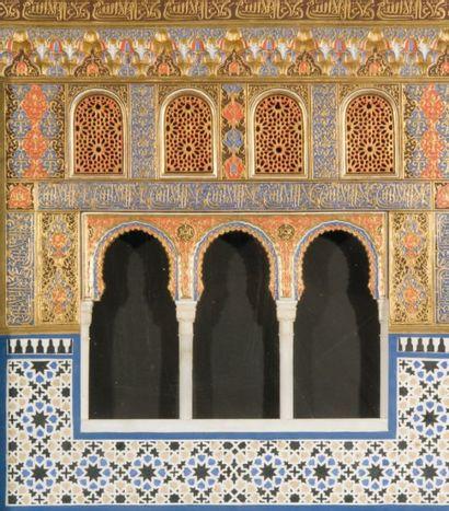 Maquette de façade de l'Alhambra. Panneau...