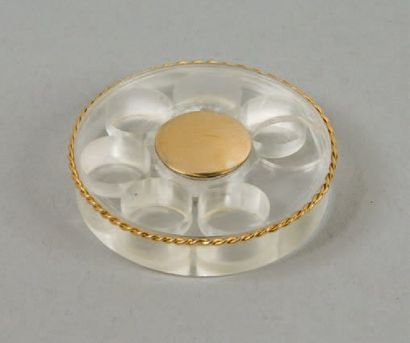 HERMÈS Paris *Boîte à pilules de forme ronde...