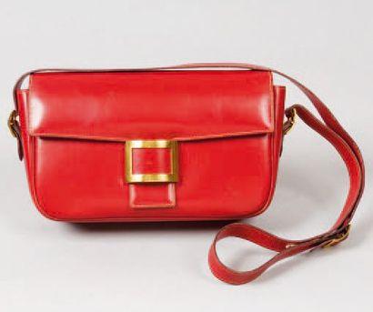 HERMÈS Paris *Sac « Martine « en cuir rouge,...