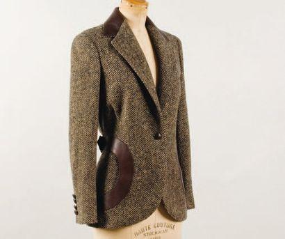 HERMÈS Paris *Veste en laine et cachemire...