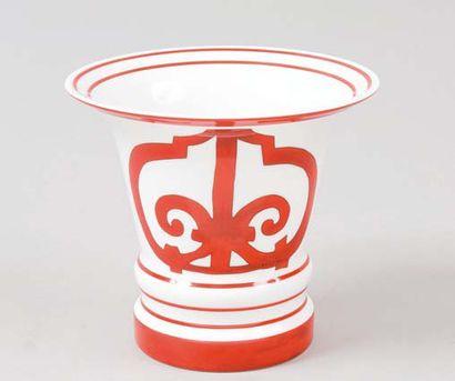 HERMÈS Paris made in France *Vase en porcelaine...