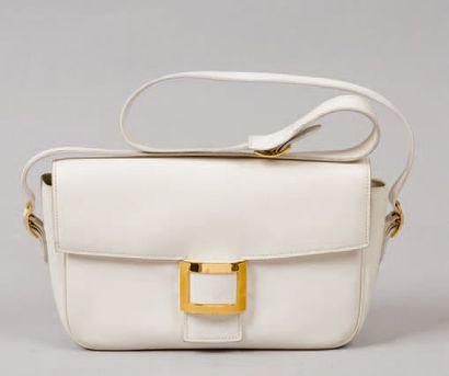 HERMES Paris *Sac « Martine « en cuir blanc,...