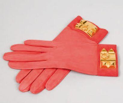 HERMÈS Paris made in France *Paire de gants...