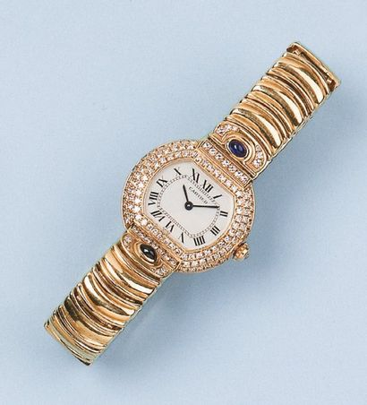 CARTIER - CEINTURE. Bracelet montre de dame...