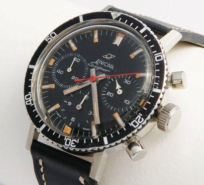 ENICAR Chronographe Pilote Driver / SuperGraph, vers 1964 Très beau chronographe...