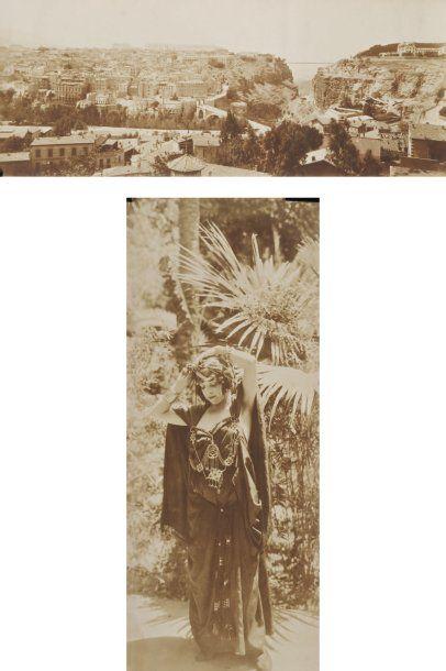 Alexandre Bougault (1851-1911) Afrique du Nord, c. 1900. Cimetière à El Kebir. Mosquée....
