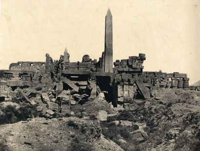 Maxime Du Camp (1822-1894) Haute Egypte. 1850. Thèbes. Palais de Karnak. Sanctuaire...
