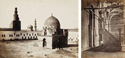 Wilhelm Hammerschmidt (actif c. 1855-1875) Le Caire, c. 1865. Mosquée Touloun. Tombeaux...