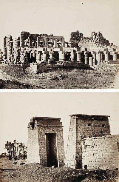 Wilhelm Hammerschmidt (actif c. 1855-1875) Egypte, c. 1865. Temple de Karnak. Premier...