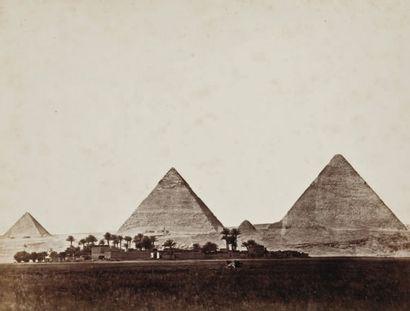 Wilhelm Hammerschmidt (actif c. 1855-1875) Egypte, c. 1865. Pyramides de Gizeh. Grottes...