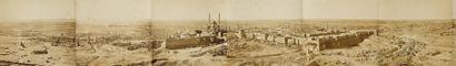 Zangaki (attribué à) Egypte, c. 1865-1870. Panorama du Caire, vu du djebel Mokkattam....