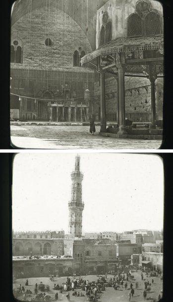 Egypte, c. 1880. Le Caire. Palais du Ghezireh. Mosquées Ibrahim Pacha. Mosquée du...