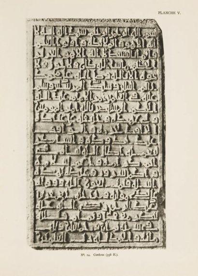 LEVI-PROVENCAL (Evariste). Inscriptions arabes d'Espagne. Leyde-Paris, Brill et E....