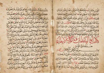 HAMZA b. Ali b. Ahmad al-Farisi al-Durzi. Rasa'il al-Hakam ( troisième partie du...