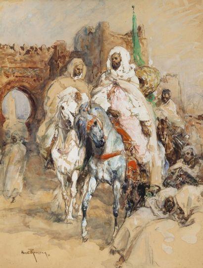 Henri ROUSSEAU (1875-1933) Cavaliers à la...