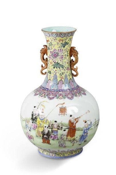 Vase bouteille Tianqiuping en porcelaine...
