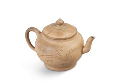 Théière en porcelaine poussière de thé, le...