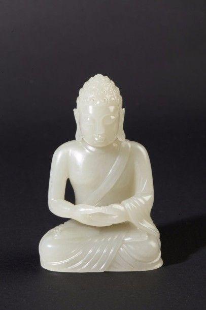 Statuette en jade céladon, représentant le...