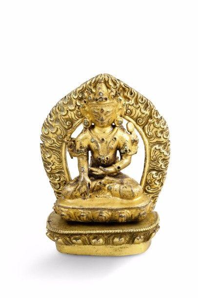 Statuette en bronze doré, représentant Amitayus...