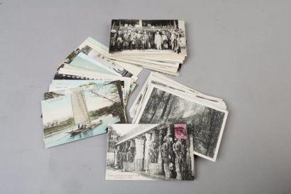 Ensemble de 98 cartes postales dont : 15...