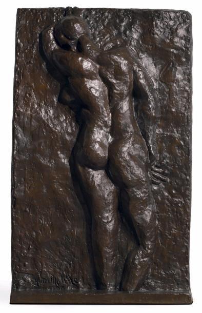 Henri MATISSE (1869-1954) Nu allongé, Nice, 1930 Dessin au crayon sur papier. Signé...