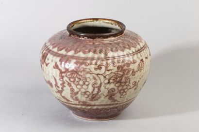 Chine du Sud, XIXe siècle Jarre en grès,...