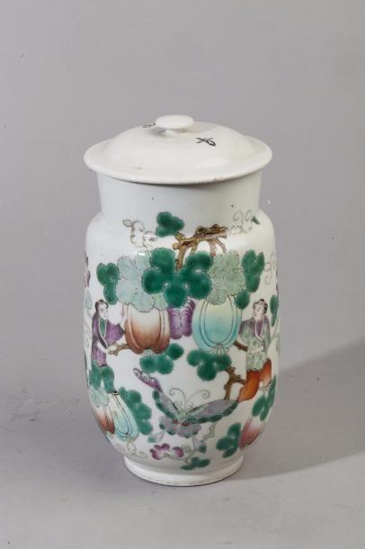 Chine, 1ère moitié du XXe siècle. Pot couvert...