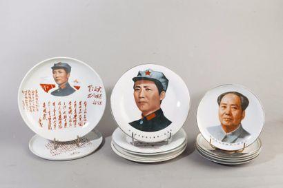 Chine, 2ème moitié du XXe siècle Lot de 12...