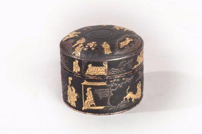 Chine, période Ming, XVIIe siècle Boîte couverte...