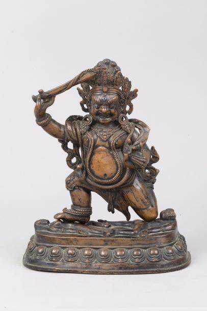 Tibet, XVIIe siècle Sujet en alliage de cuivre...