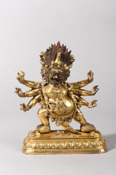 Chine, début XIXe siècle Statuette en bronze...