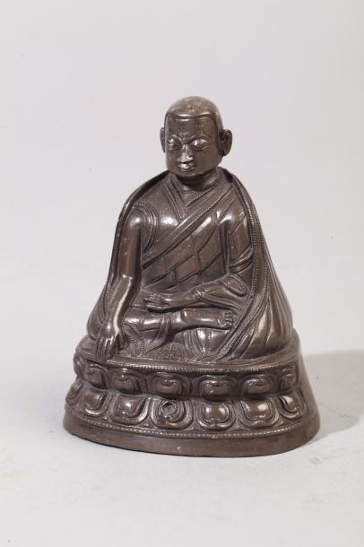 Chine, XVIII-XIXe siècle Petit sujet en argent,...