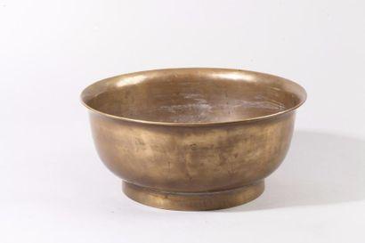 Chine, XIXe siècle Bol à offrande en bronze...