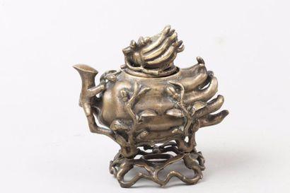 Chine, époque Qing, XIXe siècle Brûle-parfum...